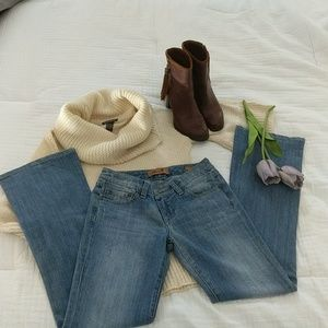 SEVEN distressed flare jeans